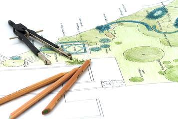 progettazione di giardini verdi